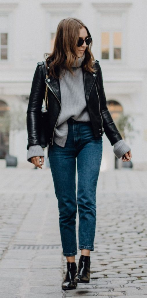 How to Style your Mom Jeans - Winter Fashion 2021