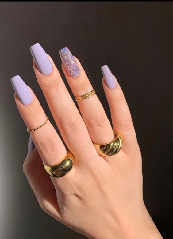 Lilac nail trends ss21